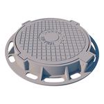 Люк чугунный тяжелый Т (С250)-7-2-60 с шарниром и запорным устройством