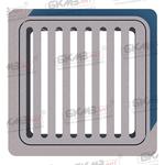 Дождеприемник чугунный малый квадратный Д (А15)-1-32x32