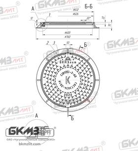 Люк чугунный средний С (В125)-2-60 ВЧШГ