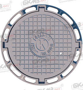 Люк чугунный тяжелый Т (С250)-1-60-4 (870x120) четырехушковый