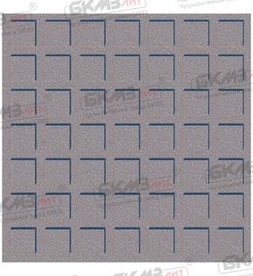 Плитка чугунная квадратная ПП-300